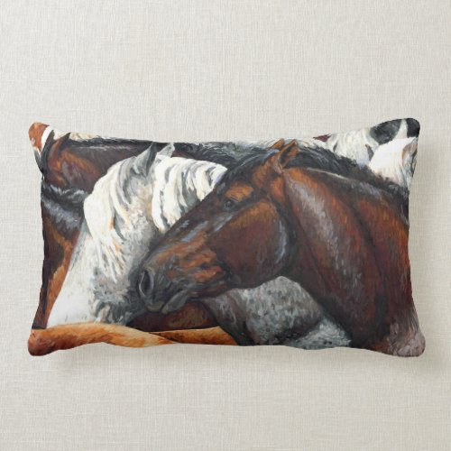 Kindred Spirits - Horse Herd Designer Pillow throwpillow