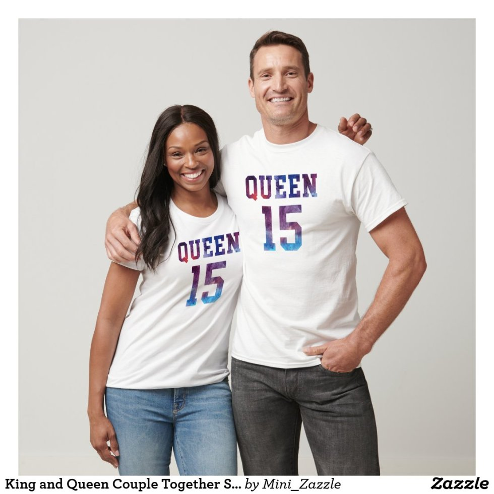 King and Queen Couple Together Since 2015 T-Shirt