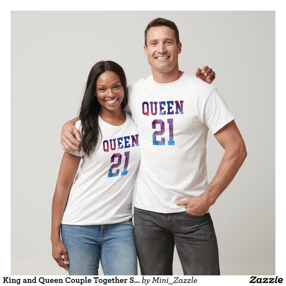King and Queen Couple Together Since 2021 T-Shirt