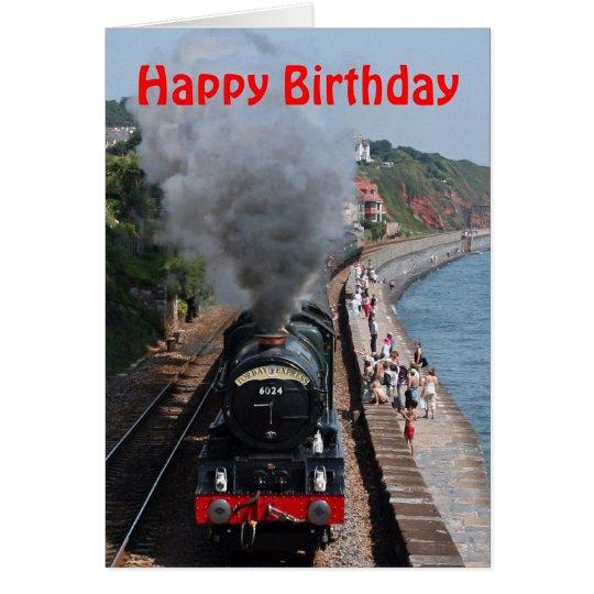 King Edward 1 Steam Engine Happy Birthday Card Zazzle