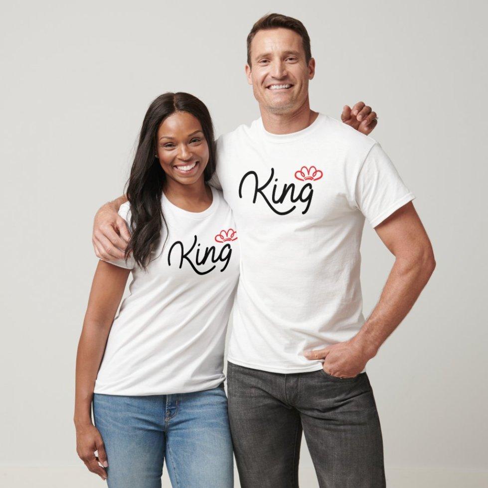 Cute Matching King Queen Couple Shirts