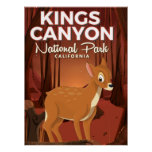 Kings Canyon national park California Poster