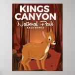Kings Canyon national park California Poster