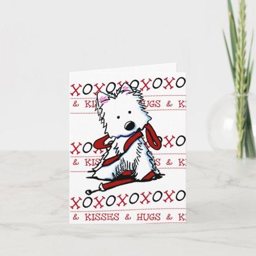 KiniArt Westie XOXO Greeting Card
