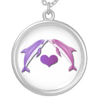 Kissing Dolphins Necklace