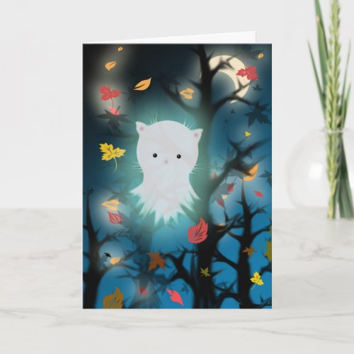 Kitten Ghost Halloween Card