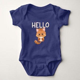 Kitten Waving Hello Baby Bodysuit