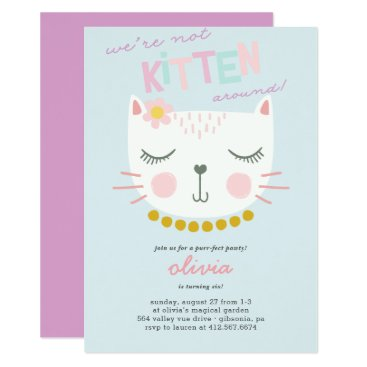 Kitty Cat Kids Birthday Invitation