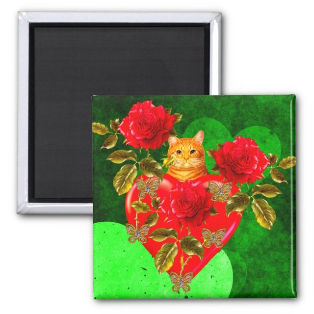 Kitty Cat Valentine Magnet