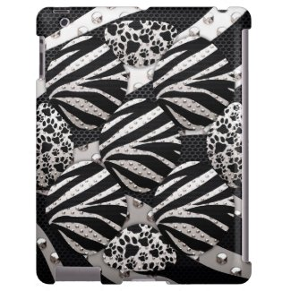 Kitty Paws/Zebra Metal iPad2/3/4 retina Case