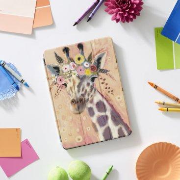 Klimt Giraffe | Adorned In Flowers iPad Pro Cover