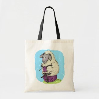 Knitting Sheep Budget Tote Bag