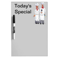 Kniving Chefs Dry Erase Board