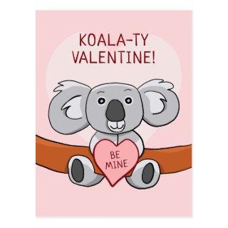 Koala Koality Be Mine Valentine Postcard
