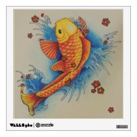 Koi fish wall decal | Zazzle