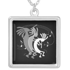 Kokopelli Gets Down Silver Plated Necklace
