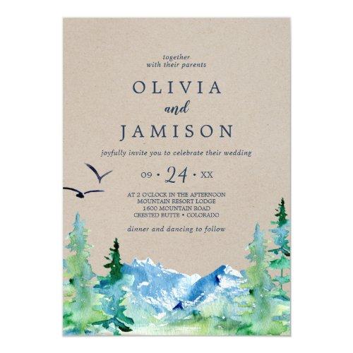 Kraft Rocky Mountain Casual Destination Wedding Invitation