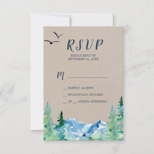 Kraft Rocky Mountain Simple RSVP Card