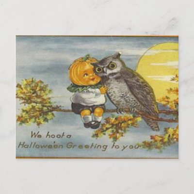 The traditional Pumpkinhead & Owl BFFship.