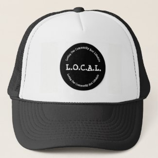 L.O.C.A.L Black and White Trucker Hat