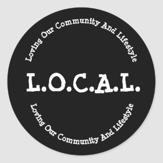 L.O.C.A.L. Sticker Decal