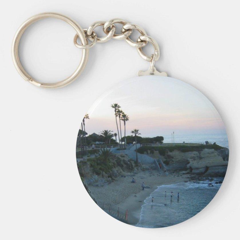 La Jolla Cove Beach Sunset Custom Keychains