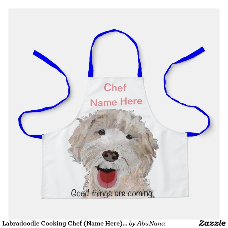 Labradoodle Cooking Chef (Name Here) Kids Apron
