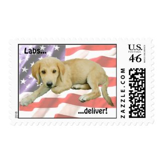 Labs Deliver Postage stamp