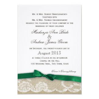Fl Wedding Invitations In Emerald Green