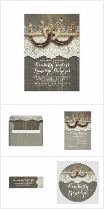 Lace and Horseshoes Rustic Barn Wedding Collection