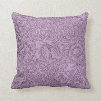 Lace Wallpaper Violet Pillows