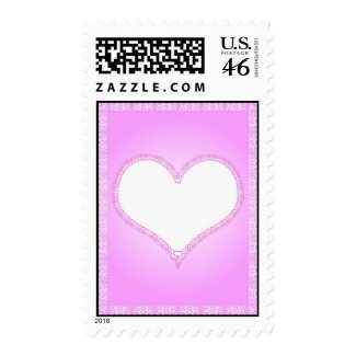 Laced heart stamp