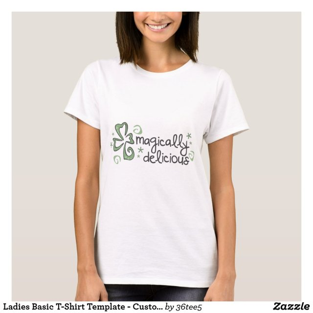 Ladies Basic T-Shirt Template - Customized