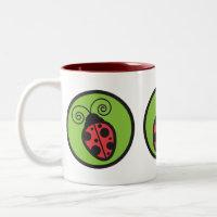 Lady Bug Two-Tone Coffee Mug