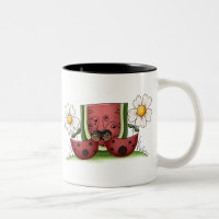 Ladybug Buddies Two-Tone Coffee Mug