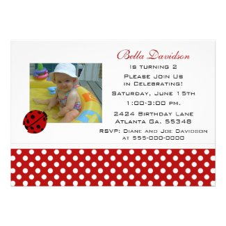 Ladybug Party Invitation