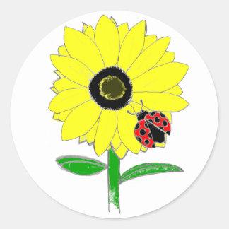 cartoon sunflower stickers