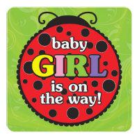 Ladybugs Baby Shower Invitation