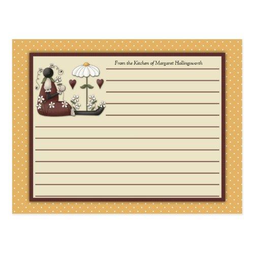 Ladybugs Country Recipe Cards