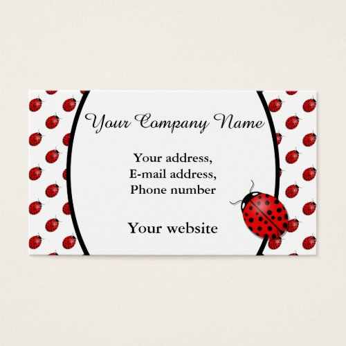 Ladybugs in red business card