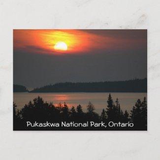 Lake Superior Sunset postcard