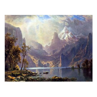 Lake Tahoe, Albert Bierstadt Vintage American West Post Cards