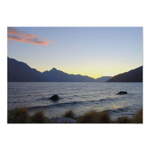 Lake Wakatipu at Sunset, Queenstown, NZ print