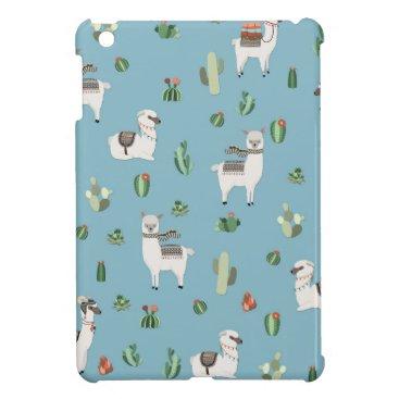 Lama and cactus pattern case for the iPad mini
