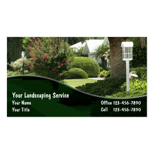 landscaping business cards zazzle