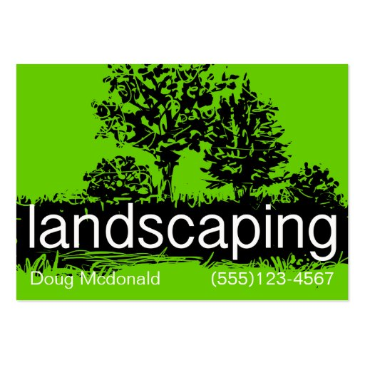 landscaping business service card