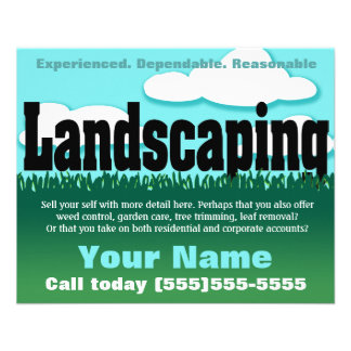 landscaping flyers & programs