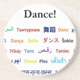 Language of Dance!  Words for Dance Worldwide Coaster