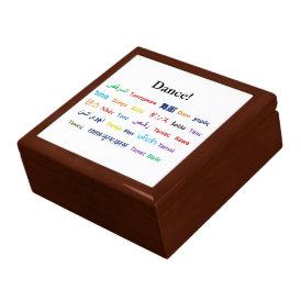 Language of Dance!  Words for Dance Worldwide Jewelry Box