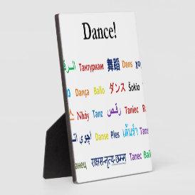 Language of Dance!  Words for Dance Worldwide Plaque